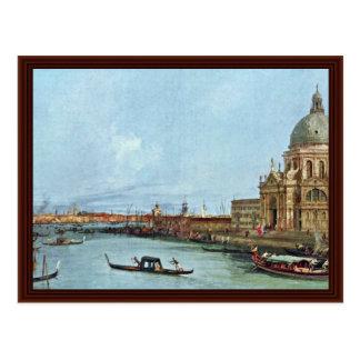 Santa Maria Della Salute, Venice. By Canaletto Postcard