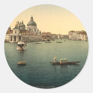 Santa Maria della Salute Venice Italy Round Sticker