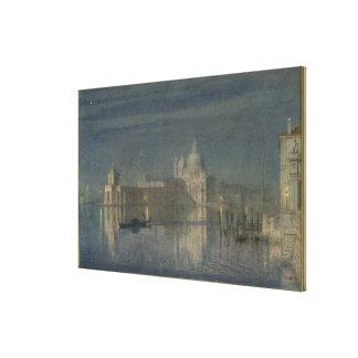 Santa Maria Della Salute, Venice, Moonlight, 1863 Canvas Print