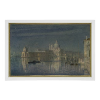 Santa Maria Della Salute Venice Moonlight 1863 Posters