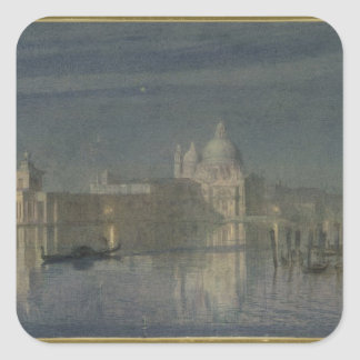 Santa Maria Della Salute, Venice, Moonlight, 1863 Square Sticker