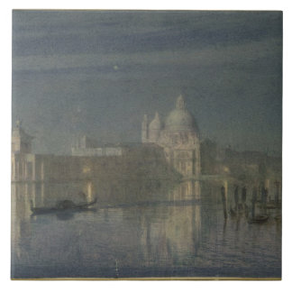 Santa Maria Della Salute, Venice, Moonlight, 1863 Tile