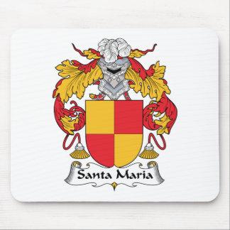 Santa Maria Family Crest Mouse Pad