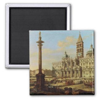 Santa Maria Maggiore, Rome, 1739 Square Magnet