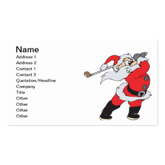 Santa Means Business Pack Of Standard Business Cards
