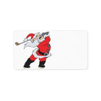 Santa Means Business Label