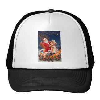 Santa Merry Christmas Mesh Hat
