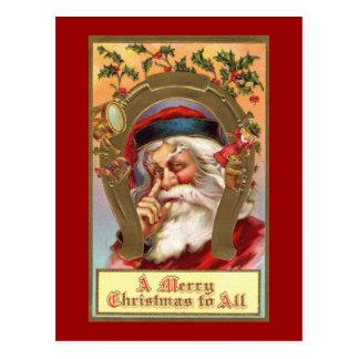 Santa Merry Christmas Postcard