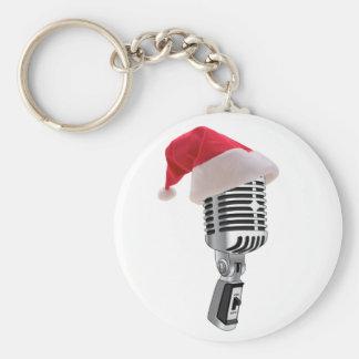 santa microphone key ring