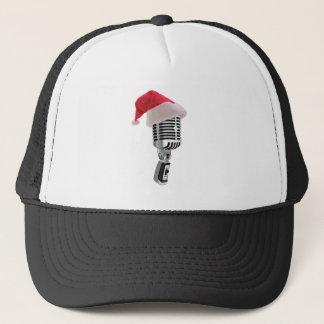 santa microphone trucker hat