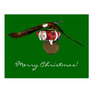 Santa Might Come A Bit Later Postcard