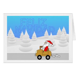 Santa Mobile - spanish Card