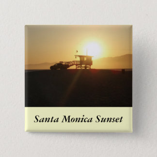 Santa Monica at Sunset 15 Cm Square Badge