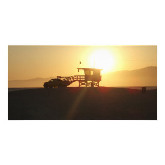 Santa Monica at Sunset Picture Card