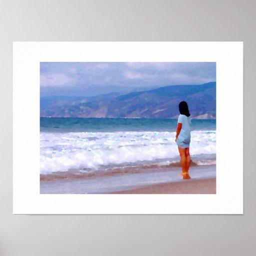 Santa Monica Beach Babe #1 2015 Poster