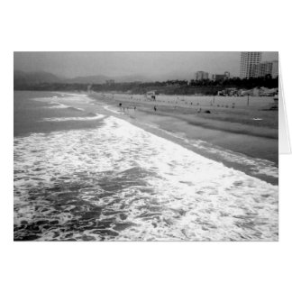 Santa Monica Beach Greeting Card