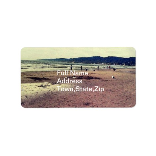 Santa Monica beach Label