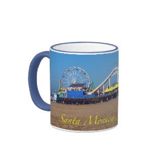 Santa Monica Beach pier Coffee Mugs