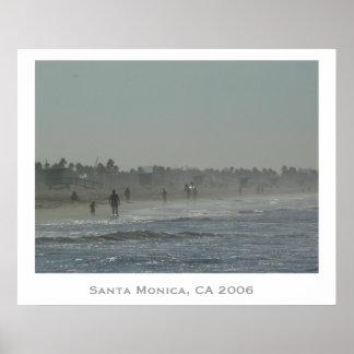 Santa Monica Beach Poster