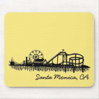 Santa Monica CA California Pier Beach Ferris Wheel Mouse Mat
