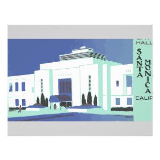Santa Monica Calif , Vintage Flyer Design