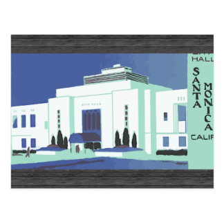 Santa Monica Calif , Vintage Postcard