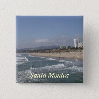 Santa Monica, California 15 Cm Square Badge