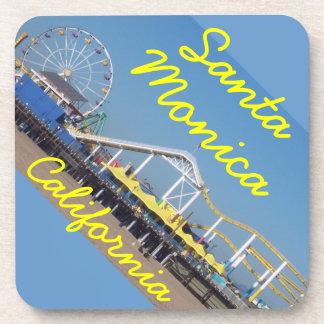 Santa Monica California Beach Pier Coasters