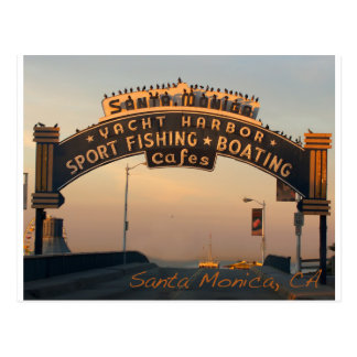 Santa Monica California Postcard