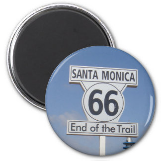 Santa Monica, California - RT 66 Magnet