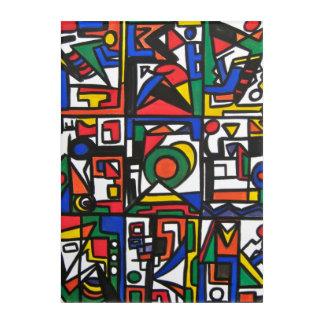 Santa Monica-Hand Painted Abstract Geometric Acrylic Print