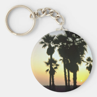Santa Monica, Los Angeles, California, U.S.A. Basic Round Button Key Ring
