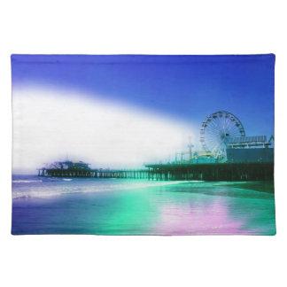 Santa Monica Pier - Blue Green Photo Edit Placemat