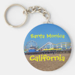 Santa Monica Pier, California Basic Round Button Key Ring