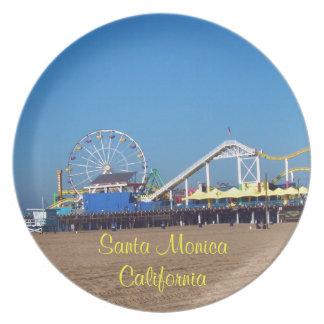 Santa Monica Pier, California Party Plate