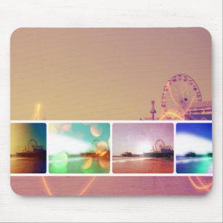 Santa Monica Pier Photo Collage Mouse Mat