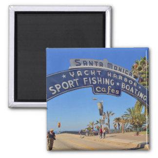 Santa Monica Pier Square Magnet
