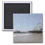 Santa Monica Pier - Stone Mosaic Photo Edit Magnets