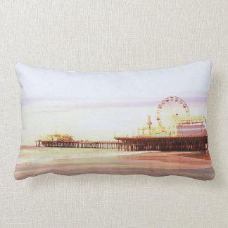 Santa Monica Pier Sunrise Lumbar Cushion