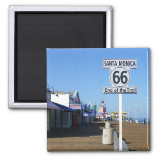 Santa Monica Route 66 Magnet! Square Magnet