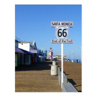 Santa Monica Route 66 Postcard! Postcard