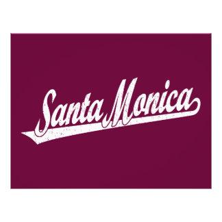 Santa Monica script logo in white distressed 21.5 Cm X 28 Cm Flyer