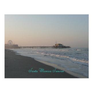 Santa Monica Sunrise Post Card