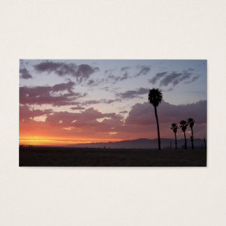 santa monica sunset business card