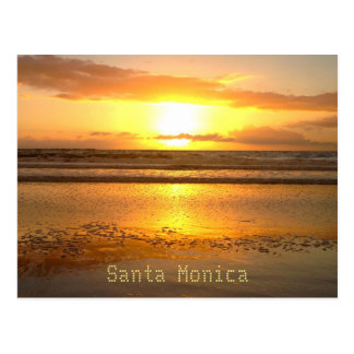 Santa Monica Travel Beach Bubbles Postcard