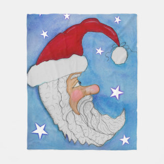 Santa Moon Fleece Blanket
