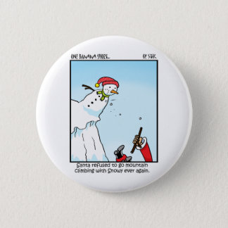Santa Mountain Climbing 6 Cm Round Badge