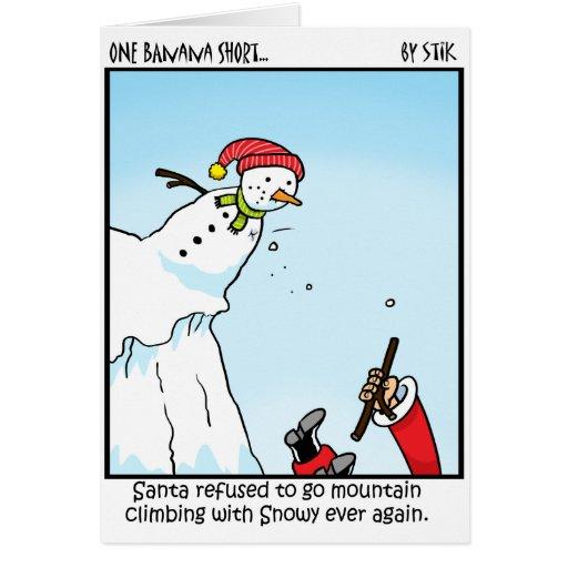 Santa Mountain Climbing Greeting Card | Zazzle
