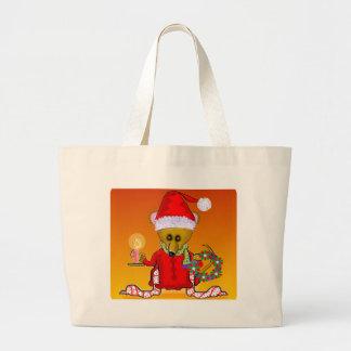 Santa Mouse Canvas Bag