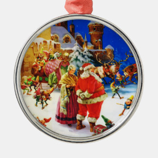 Santa & Mrs. Claus At the North Pole Christmas Eve Christmas Ornament
